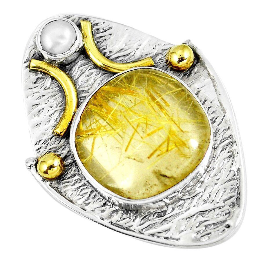 Rutilētais kvarcs, pērle. 4 cm.